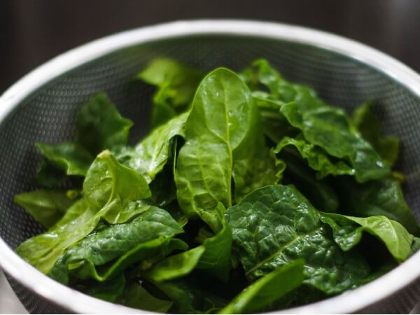 spinach(nitrate rich food)